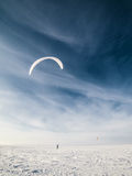 Kite boarder in winter Stock Photography