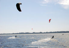 Kite-boarding Stock Photos
