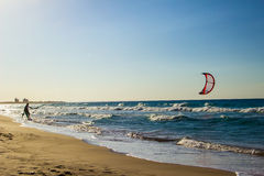 Kite boarding Stock Image