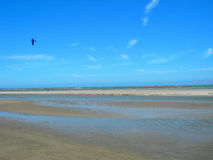 Kite boarding on Beach in south carolina america. Beach scene in south carolina united states Stock Photography