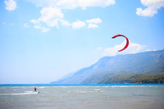 Kite Boarding Stock Photo