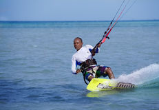 Kite Boarding, Fun in the ocean, Extreme Sport Stock Images