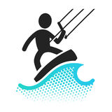 Kite boarding icon Stock Photo