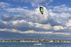 Kite boarding Royalty Free Stock Photography