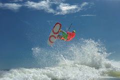 Kite boarding. Stock Image