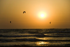 Kite boarding. Stock Image