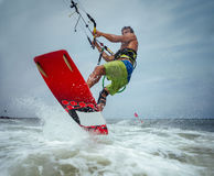 Kite boarding. Stock Images
