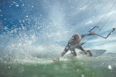 Kite boarding. Stock Images