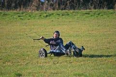 Kite buggying Stock Photography