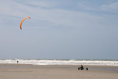 Kite and car stock photography
