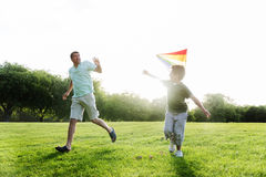 Kite Carefree Activity Summer Joyful Fun Concept Stock Images