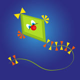 Kite cartoon on blue background Stock Photography