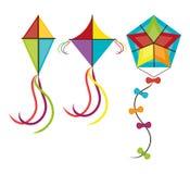 Kite and childhood design. Kite childhood games cartoon design, vector illustration Royalty Free Stock Photos