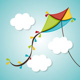 Kite and childhood design. Kite childhood games cartoon design, vector illustration Stock Photos
