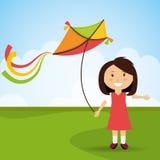 Kite and childhood design. Stock Photo