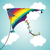 Kite and childhood design. Kite childhood games cartoon design, vector illustration Royalty Free Stock Photography
