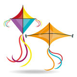Kite and childhood design. Royalty Free Stock Image