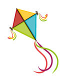 Kite and childhood design. Kite childhood games cartoon design, vector illustration Royalty Free Stock Images