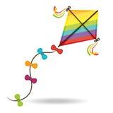 Kite and childhood design. Stock Photos