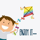 Kite childhood game. Design, vector illustration eps10 Stock Image