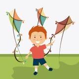 Kite childhood game. Design, vector illustration eps10 Royalty Free Stock Photos