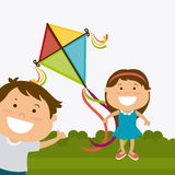 Kite childhood game Stock Image