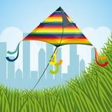 Kite childhood game. Design, vector illustration eps10 Stock Photos