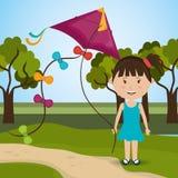 Kite childhood game Stock Photo