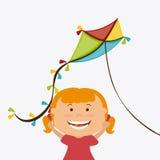 Kite childhood game. Design, vector illustration eps10 Royalty Free Stock Photo