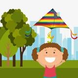 Kite childhood game Stock Photography