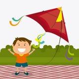 Kite childhood game Stock Photos