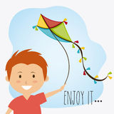 Kite childhood game Stock Photos
