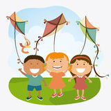 Kite childhood game. Design, vector illustration eps10 Stock Photography