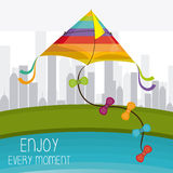 Kite childhood game. Design, vector illustration eps10 Royalty Free Stock Photography