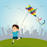 Kite childhood game Stock Images