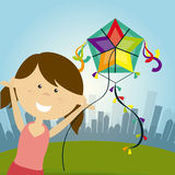 Kite childhood game Royalty Free Stock Photos