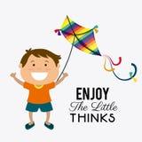 Kite childhood game. Design, vector illustration eps10 Royalty Free Stock Image