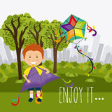 Kite childhood game Royalty Free Stock Photo