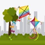 Kite childhood game. Design, vector illustration eps10 Stock Photo