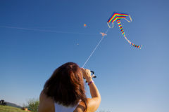 Kite competition Royalty Free Stock Photography