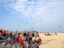 Kite Day is celebrated on the beach Royalty Free Stock Photo