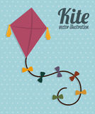 Kite design Stock Image