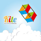 Kite design Stock Photos