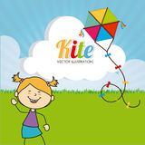 Kite design Royalty Free Stock Photos