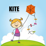 Kite design Stock Photo