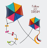 Kite design Royalty Free Stock Images