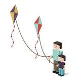 Kite design Stock Photography
