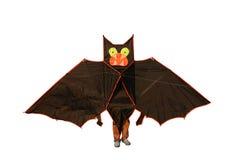 Kite with feet. Bat kite with feet isolated on white Royalty Free Stock Photos