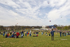 Kite Festival. This is from the National Kite Festival in Washington DC, on the Mall. The Lincoln Memorial is in the background Stock Photos