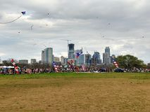 Kite festival in Austin Texas Royalty Free Stock Images